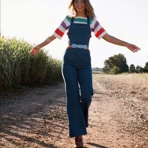 NWT WIDE LEG OVERALLS
